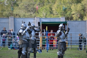 A gun fired into the air puts a stop to the after-joust fight pretty quickly
