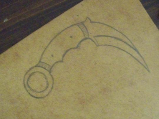 He drew it...